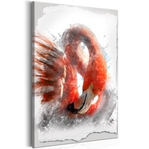 Ljuddämpande & ljudabsorberande tavla - Red Flamingo - SilentSwede