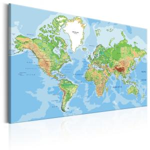 Ljuddämpande & ljudabsorberande tavla - Explore the World! - SilentSwede