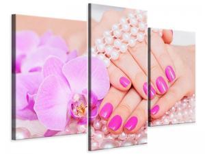 Ljudabsorberande 3 delad tavla-Manicured Hands - SilentSwede
