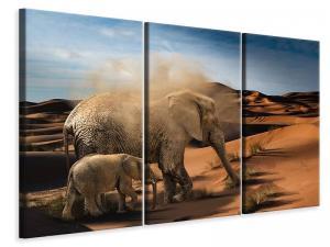 Ljuddämpande tavla - Elephants in the desert - SilentSwede