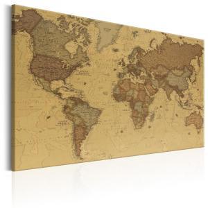 Ljuddämpande & ljudabsorberande tavla - Ancient World Map - SilentSwede