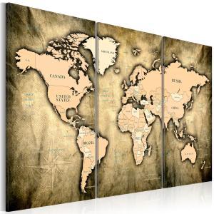 Ljuddämpande tavla - World Map: The Sands of Time - SilentSwede