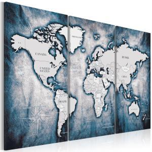 Ljuddämpande tavla - World Map: Ink Triptych - SilentSwede