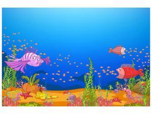 Ljudabsorberande tavla - Treasure Underwater - SilentSwede