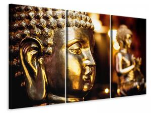Ljuddämpande tavla - Golden buddhas - SilentSwede