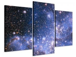 Ljudabsorberande modern 3 delad tavla - Starry Sky - SilentSwede