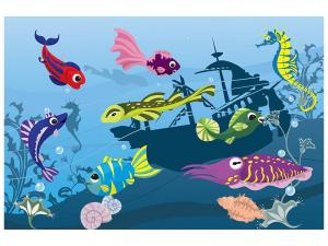 Ljudabsorberande tavla - Fish In Water - SilentSwede