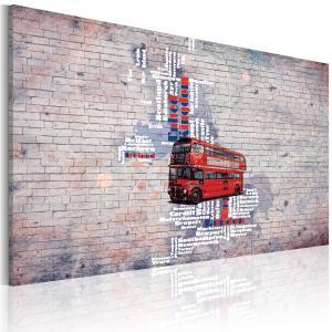 Ljuddämpande & ljudabsorberande tavla - Runt Storbritannien av Routemaster - SilentSwede