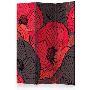 Rumsavdelare - Pleated poppies - SilentSwede