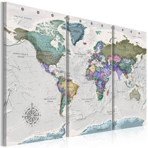 Ljuddämpande tavla - World Destinations - SilentSwede