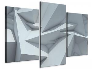 Ljudabsorberande 3 delad tavla-3D Kristallo - SilentSwede
