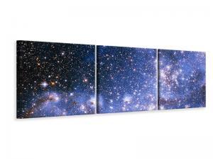 Ljudabsorberande panorama 3 delad tavla - Starry Sky - SilentSwede