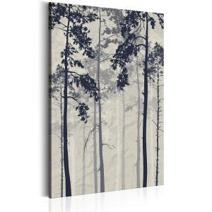 Ljuddämpande & ljudabsorberande tavla - Forest In Fog - SilentSwede