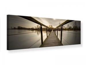 Ljudabsorberande panorama tavla - The Wooden Bridge - SilentSwede
