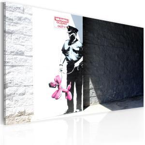 Ljuddämpande tavla - Police guard and pink balloon dog - SilentSwede