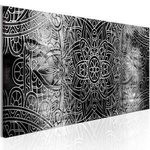 Ljuddämpande tavla - Mandala: Grey Depths - SilentSwede