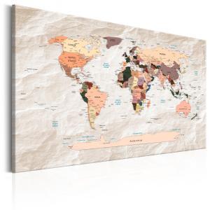 Ljuddämpande & ljudabsorberande tavla - World Map: Stony Oceans - SilentSwede