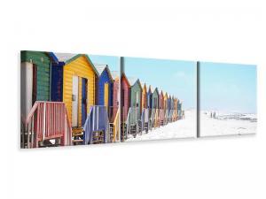 Ljuddämpande tavla - Colorful beach houses - SilentSwede