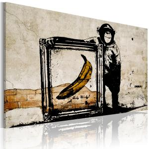 Ljuddämpande tavla - Inspired by Banksy - sepia - SilentSwede