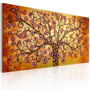 Ljuddämpande handmålad tavla - Påfågel träd - SilentSwede