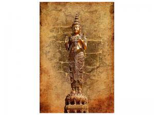 Ljudabsorberande tavla-Golden Buddha Statue - SilentSwede
