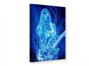 Ljudabsorberande tavla - Vibrant Guitarist - SilentSwede