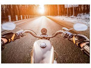 Ljudabsorberande tavla - On A Motorcycle - SilentSwede