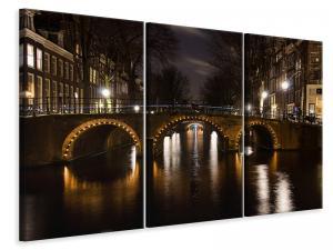 Ljuddämpande tavla - At night in amsterdam - SilentSwede