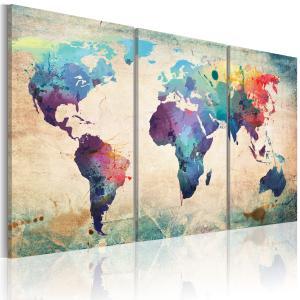 Ljuddämpande tavla - Världen målade med akvarell - SilentSwede