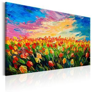 Ljuddämpande tavla - Sea of Tulips - SilentSwede