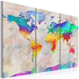 Ljuddämpande tavla - World Map: Rainbow Gradient - SilentSwede