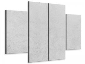 Ljudabsorberande 4 delad tavla - Concrete In Light Gray - SilentSwede
