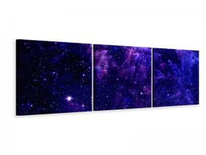 Ljudabsorberande panorama 3 delad tavla - A Sky Full Stars - SilentSwede