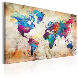 Ljuddämpande & ljudabsorberande tavla - World Map: Urban Style - SilentSwede