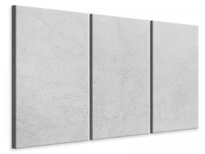 Ljudabsorberande 3 delad tavla - Concrete In Light Gray - SilentSwede