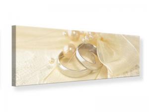 Ljudabsorberande panorama tavla - Wedding Rings - SilentSwede