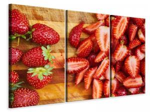 Ljuddämpande tavla - Fresh strawberries - SilentSwede