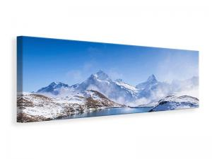 Ljuddämpande tavla - Sundeck At The Swiss Mountain Lake - SilentSwede