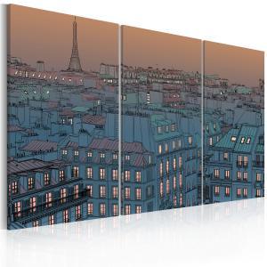 Ljuddämpande tavla - Paris - the city goes to sleep - SilentSwede