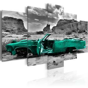 Ljuddämpande tavla - Green car - SilentSwede