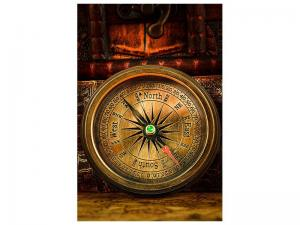Ljudabsorberande tavla - Antique Compass - SilentSwede