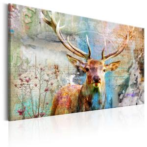 Ljuddämpande & ljudabsorberande tavla - Deer on Wood - SilentSwede