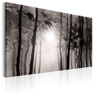 Ljuddämpande & ljudabsorberande tavla - Foggy Forest - SilentSwede