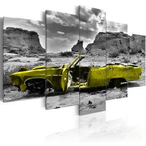 Ljuddämpande tavla - Yellow car - SilentSwede
