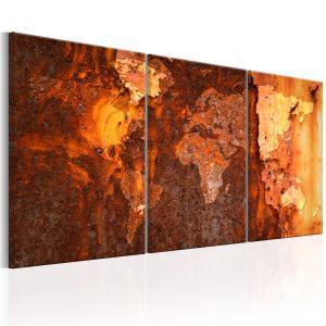 Ljuddämpande tavla - World Map: Old Rust - SilentSwede