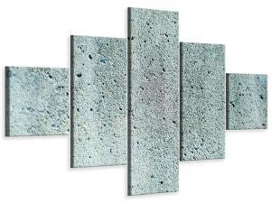 Ljudabsorberande 5 delad tavla - Concrete Gray - SilentSwede
