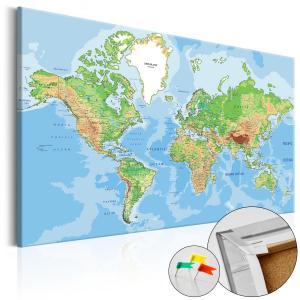 Ljuddämpande anslagstavla - World Geography - SilentSwede