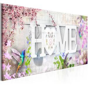 Ljuddämpande & ljudabsorberande tavla - Home and Hummingbirds Pink - SilentSwede