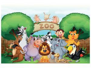 Ljudabsorberande tavla - Funny Zoo - SilentSwede