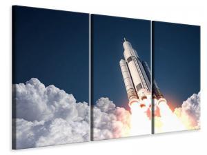Ljudabsorberande 3 delad tavla - Rocket Start - SilentSwede